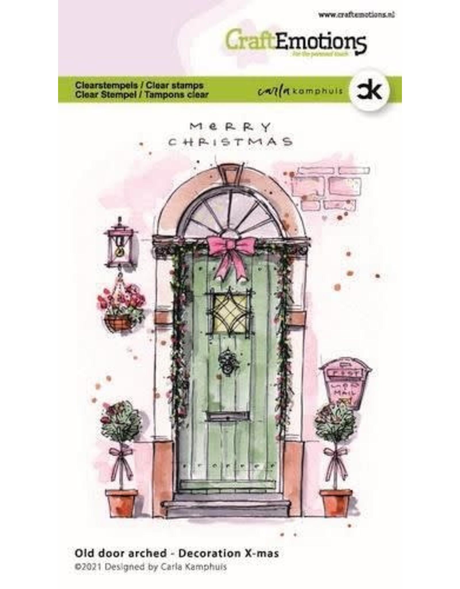Craft Emotions CraftEmotions clearstamps A6 - Oude deur met toog - Decoration X-mas Carla Kamphuis