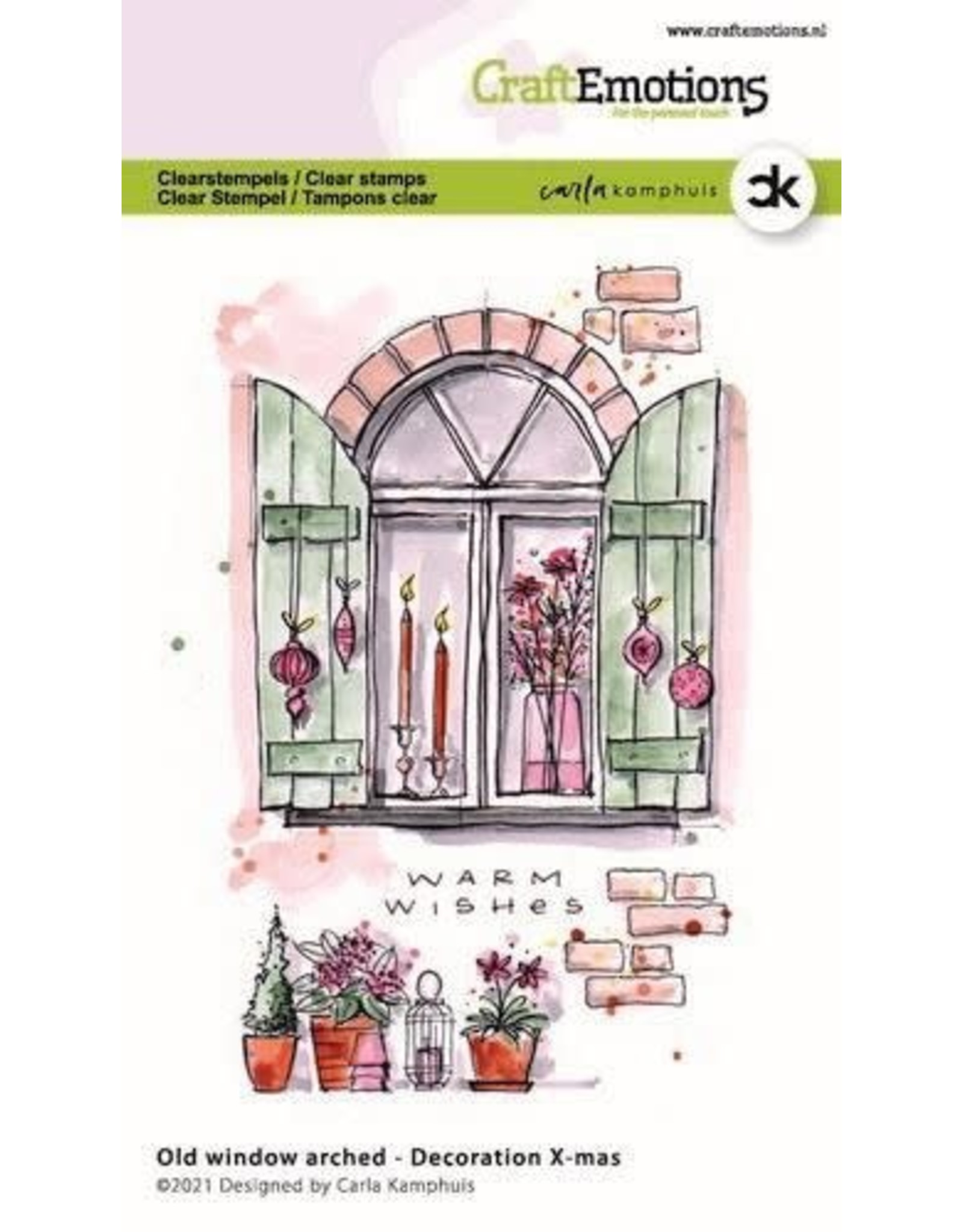 Craft Emotions CraftEmotions clearstamps A6 - Oud raam met toog - Decoration X-mas Carla Kamphuis