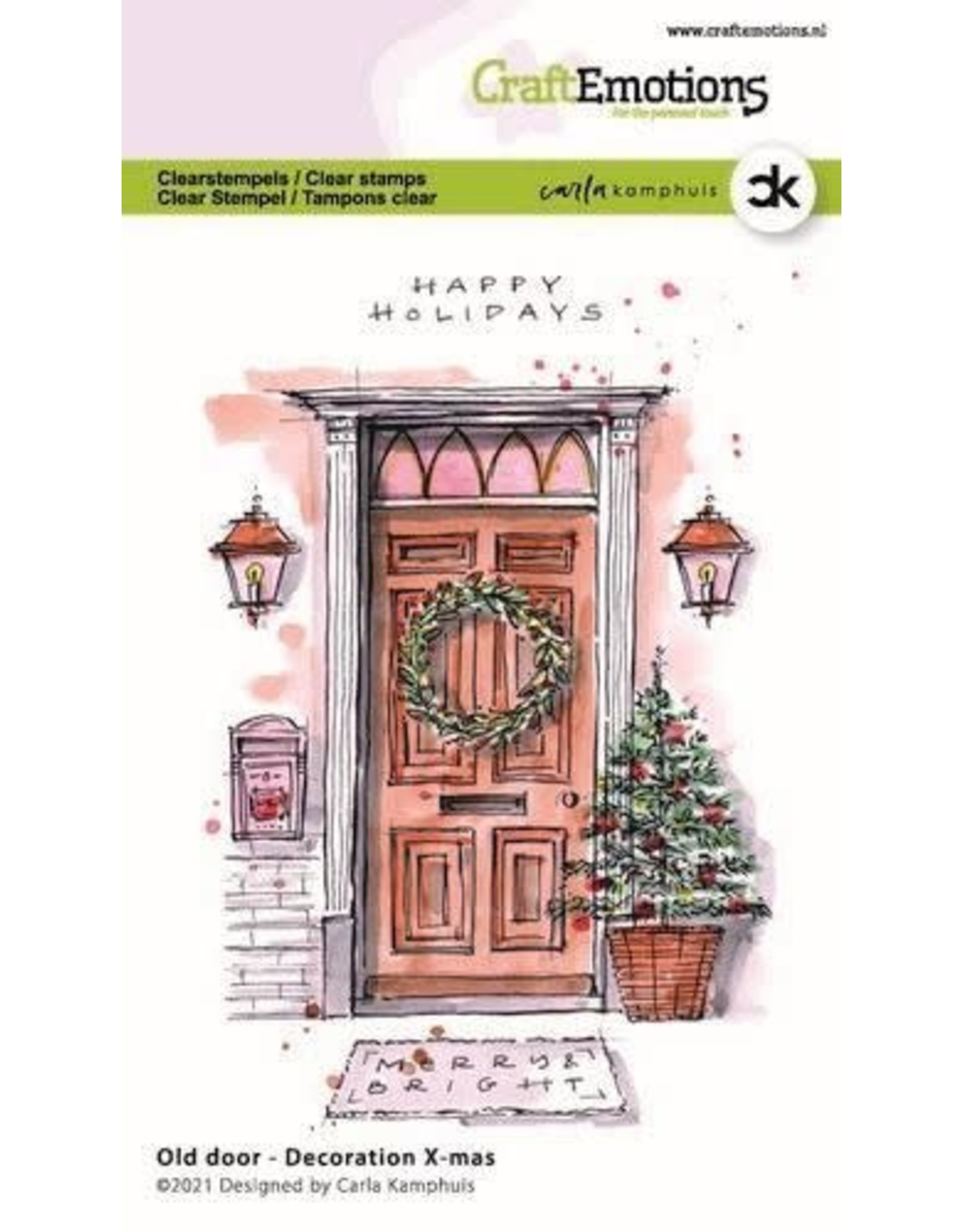 Craft Emotions CraftEmotions clearstamps A6 - Oude deur - Decoration X-mas Carla Kamphuis