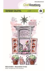 Craft Emotions CraftEmotions clearstamps A6 - Oud raam - Decoration X-mas Carla Kamphuis
