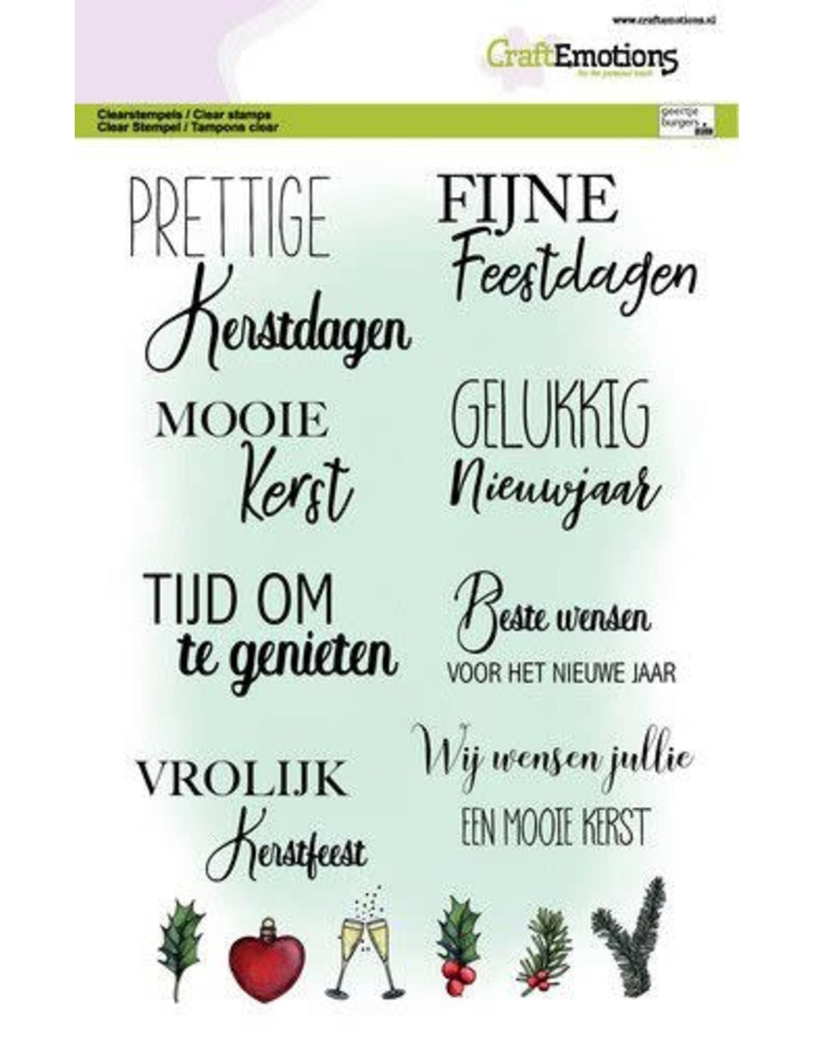 Craft Emotions CraftEmotions clearstamps A5 - Tekst kerstkaarten (NL) GB Dimensional stamp
