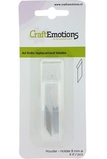 Craft Emotions CraftEmotions Reservemesjes voor ontwerpmes 8mm for 860501/1121 - 6 blades