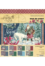 Graphic 45 Graphic 45 Let it Snow 8 x 8 paperpad