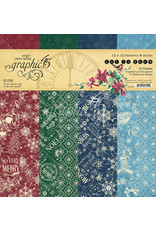 Graphic 45 Graphic 45 Let it Snow  12 x 12  Patterns & Solids Pad