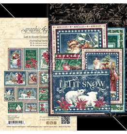 Graphic 45 Graphic 45 Let it Snow  Journal cards