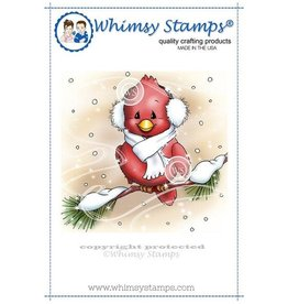 Whimsy Stamps Whimsy Stamps Cardinal in winter C1098