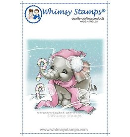 Whimsy Stamps Whimsy Stamps Ellie's Candy Canes Rubber Cling Stamp C1350