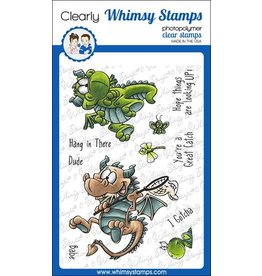 Whimsy Stamps Whimsy Stamps Flight of the dragon DP1069