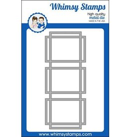 Whimsy Stamps Whimsy Stamps  Slimline Connected Rectangles Die  WSD551