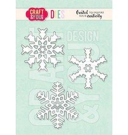 Craft & You Craft&You Cutting Die Set sneeuwvlokken CW156
