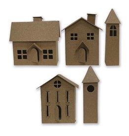 Sizzix Sizzix Thinlits Die Set 21PK - Paper Village #2 665585 Tim Holtz