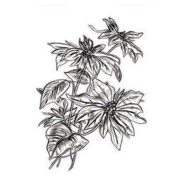 Sizzix Sizzix 3-D Texture Fades Embossing Folder - Mini Poinsettia 665635 Tim Holtz