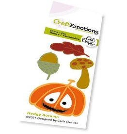 Craft Emotions CraftEmotions Die - Hedgy Autumn Card 5x10cm Carla Creaties