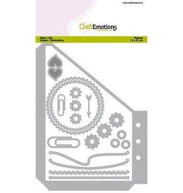 Craft Emotions CraftEmotions Die - Planner Pocket B essentials S-1 For card 12x20,5cm