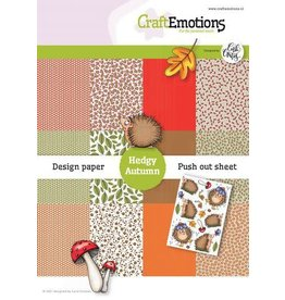 Craft Emotions CraftEmotions Design Hedgy Autumn 12 vel + push out vel - A5 Carla Creaties A5 12+1
