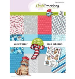 Craft Emotions CraftEmotions Design Arctic Winter 12 vel + push out vel - A5 Carla Creaties A5 12+1