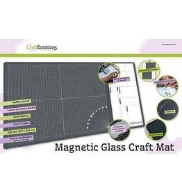 Craft Emotions CraftEmotions Glass Craft Mat (60,3 x 36,2cm) magnetisch Tempered glass grid 40x32cm