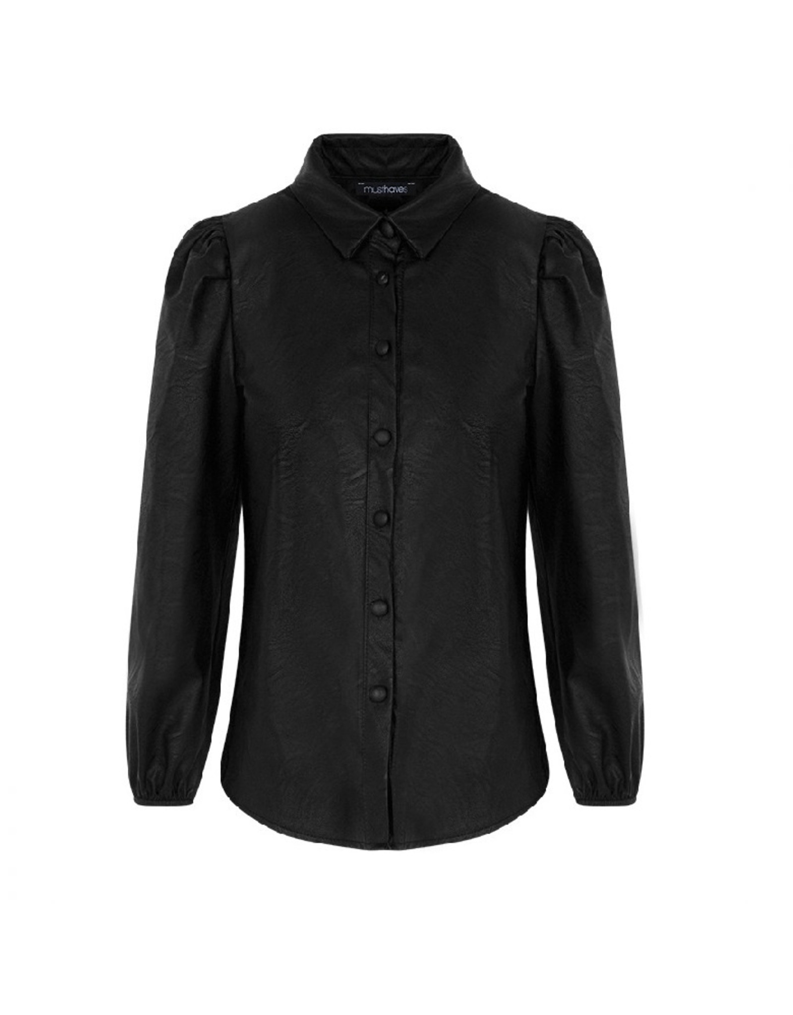 Imperium Looks LEATHER BLOUSE BLACK