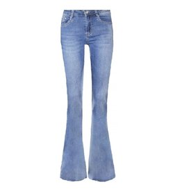 Imperium Looks FLARED PANTS DENIM BLUE