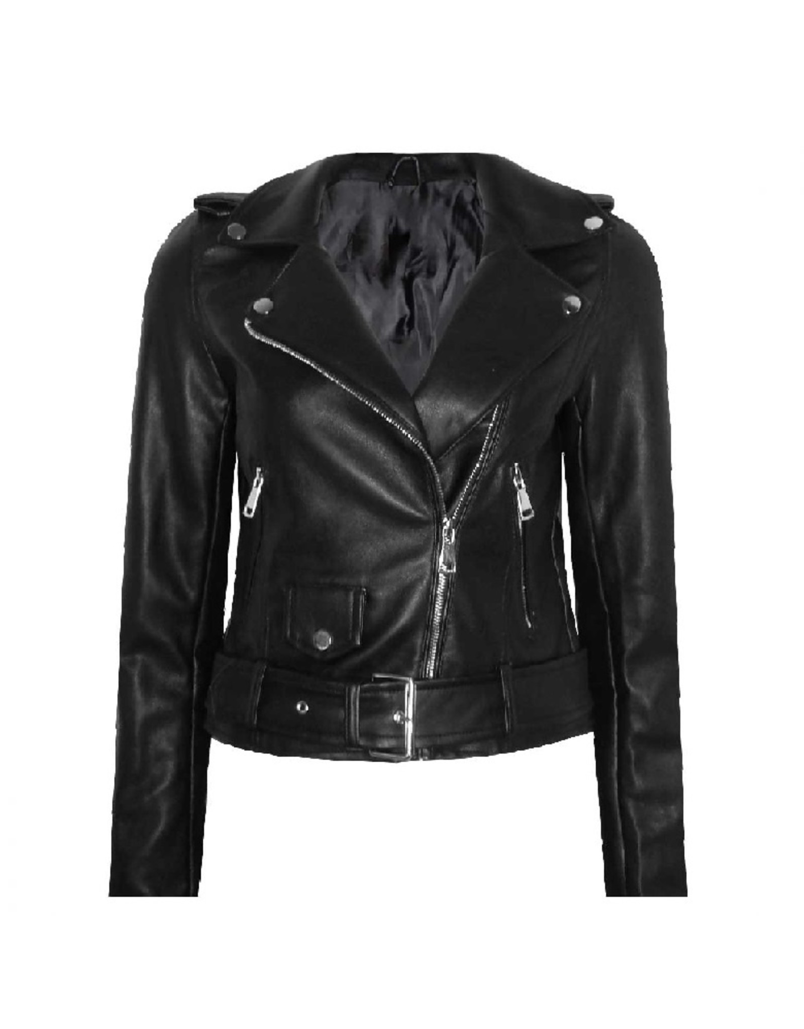 Imperium Looks LEATHERLOOK JACKET BLACK