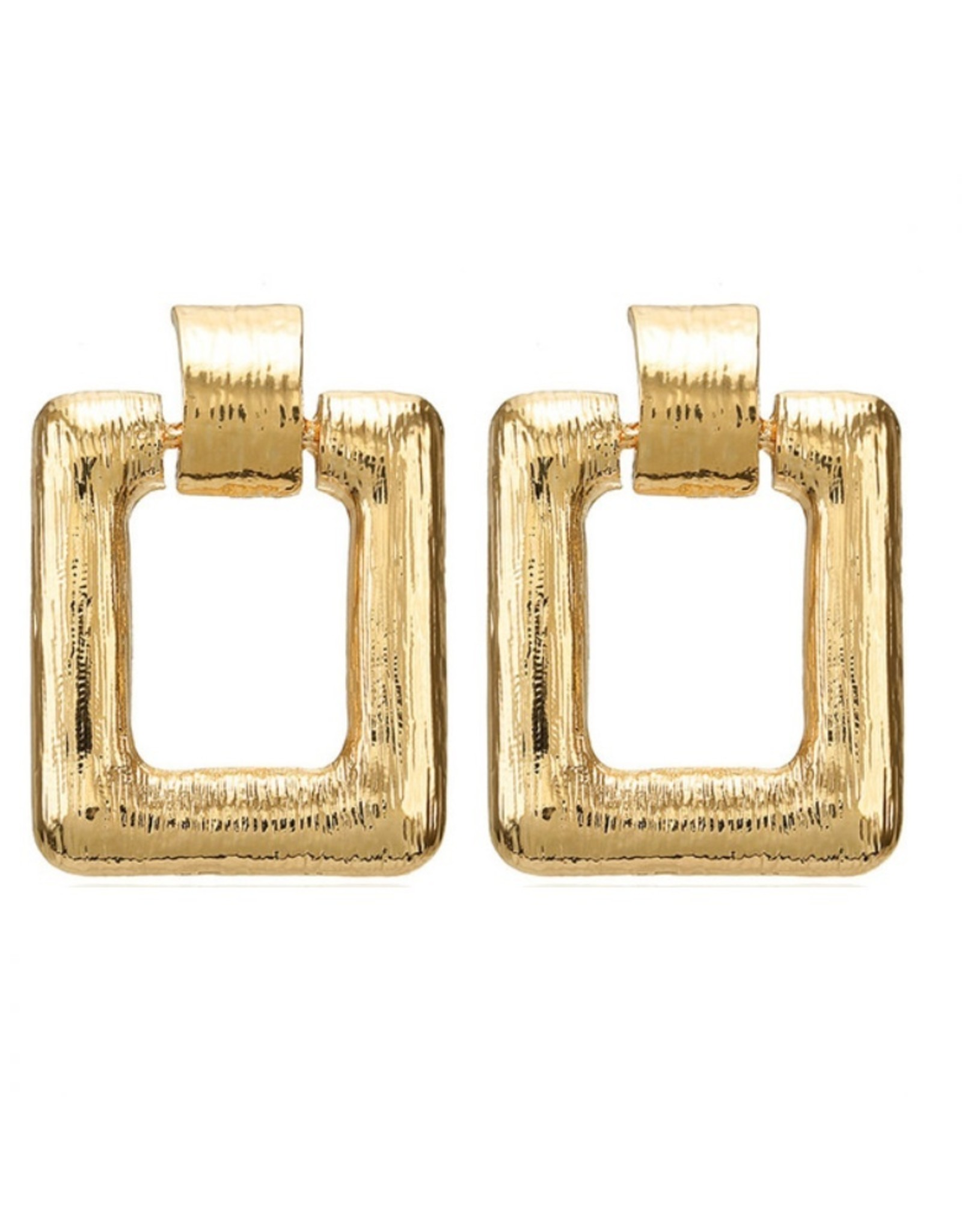 Imperium Looks STATEMENT EARRINGS SQUARE GOLD