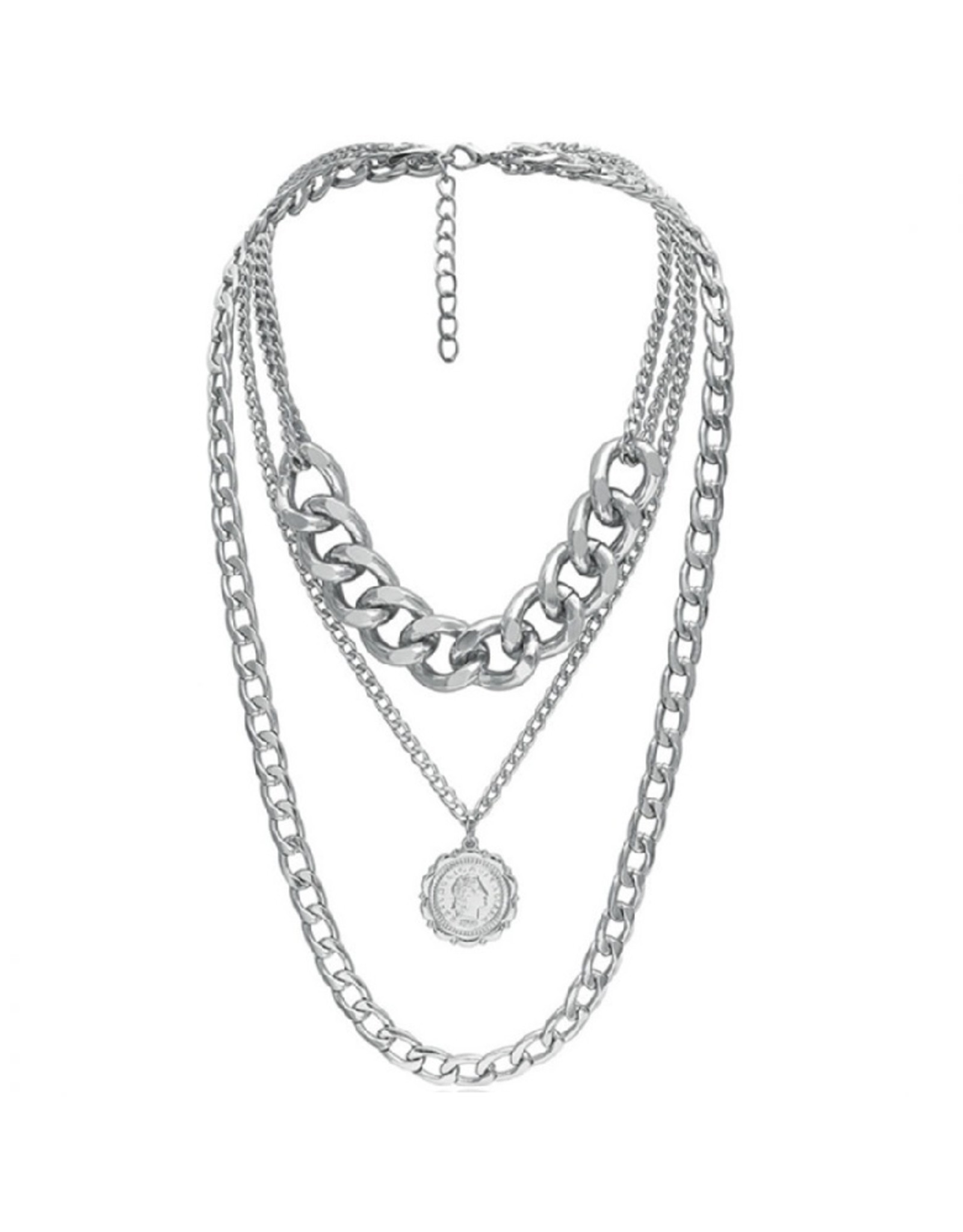 Imperium Looks NECKLACE CHAINED TO THE RHYTHM SILVER