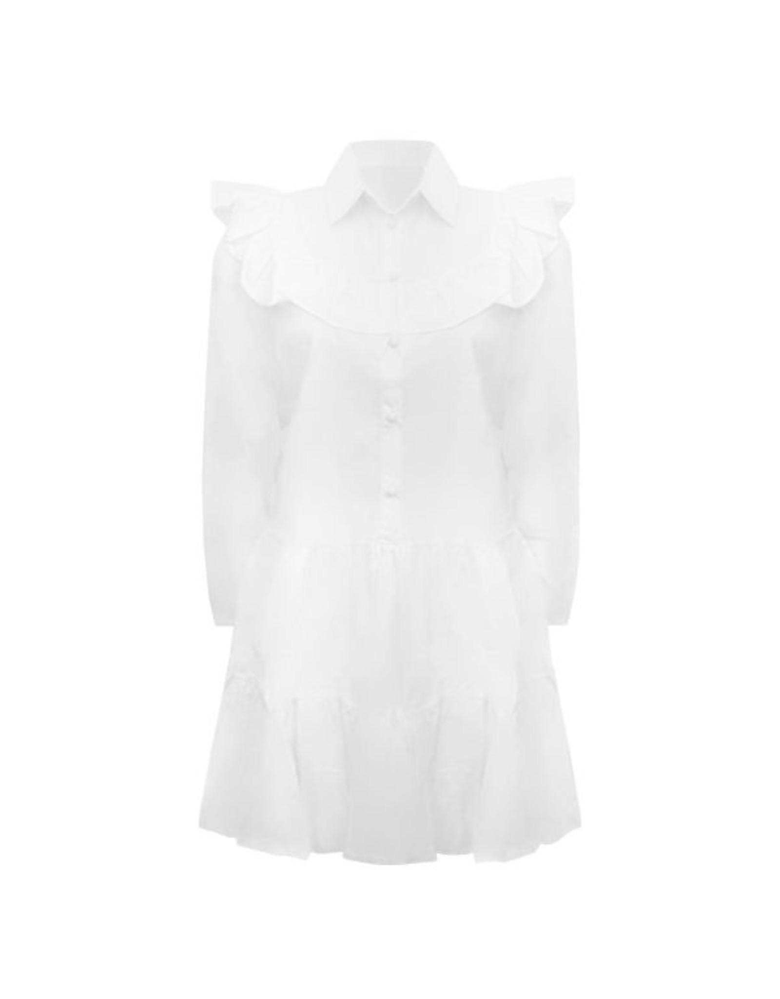 Imperium Looks RUFFLE DRESS WHITE