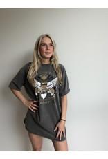 Imperium Looks IRON WHEELS T-SHIRT DRESS GREY