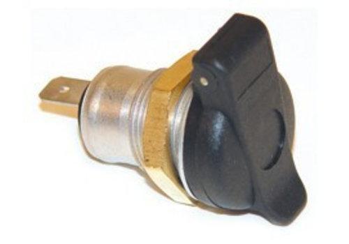 Stekerdoos 2-polig, 1 vlakstekeraansluiting