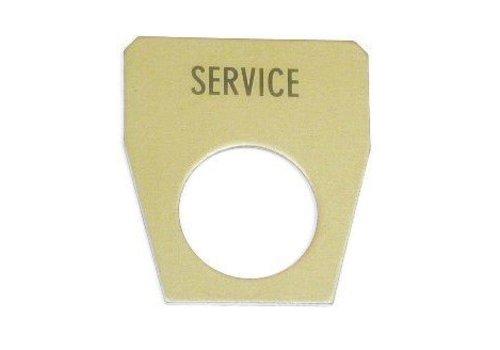 Haldex Tekstplaatje (geel)