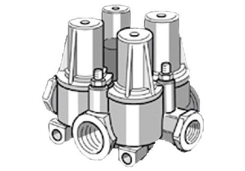 Knorr vierkrings beveiligingsventiel, 1 x M22x1,5 + 4 x M16x1,5, Irisbus