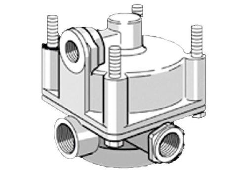 Knorr relaisklep, 1 x M22x1,5 en 2 x M16x1,5