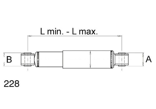SAF Schokdemper L315-475 mm = 160HUB 62 mm/Ø24