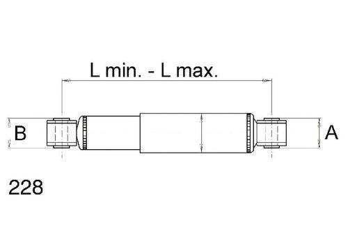 SAF Schokdemper L350-540 mm =190HUB 55 mm/Ø24