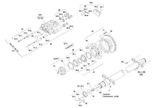 SAF Reparatieset vetwissel, voor astype SKRZ 9030/11030 SKRS/RZ 12242/12037 SK 500/500 PLUS, met onderdelen 27.3, 37, 38.1-38.3