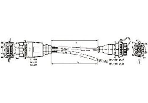 Wabco EBS aansluitkabel, aansluiting: Diagnose/ISS