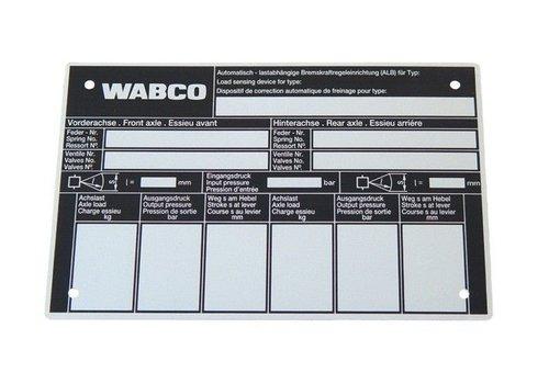 Wabco ALR controleschild, voor mechanise vering