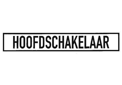 """Sticker """"HOOFDSCHAKELAAR"""""""