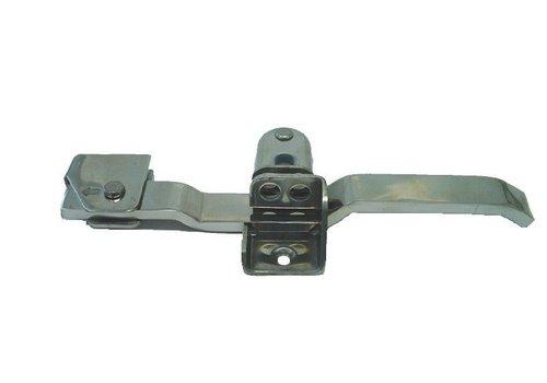 Opbouwsluiting, RVS of verzinkt staal, voor buis ø 27 mm
