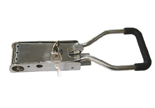 Opbouwsluiting, RVS, push-model, voor buis ø 22 mm