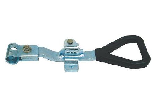 Opbouwsluiting, staal verzinkt, ergonomisch, zware uitvoering, voor buis ø 27 mm