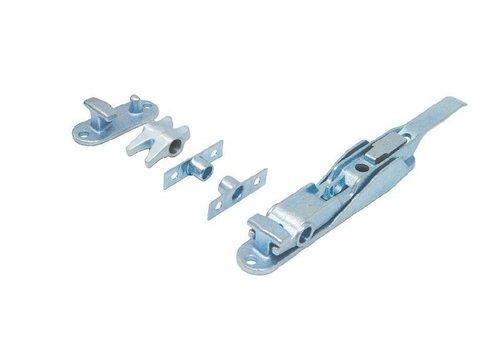 Opbouwsluiting, staal verzinkt, voor buis ø 16 mm