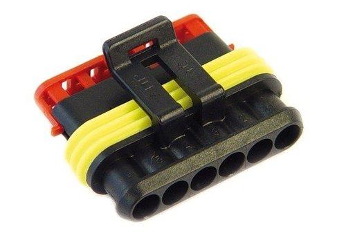 Burndy Superseal connector 6-polig