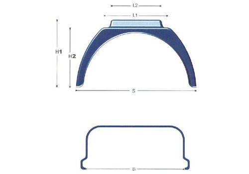 Jonesco Kunststof spatschermen J-serie (Flat Top), extra verhoging