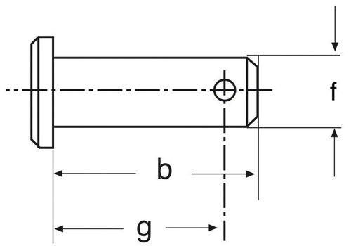 Gaffelpennen 1/2 X45X41X38 (OUTLET)