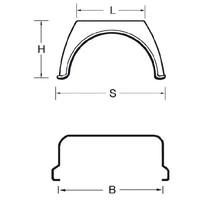 thumb-Kunststof spatschermen J-serie (Flat Top) 450 x 500 (OUTLET)-2
