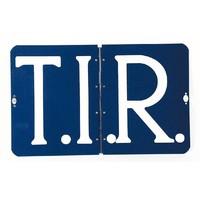 T.I.R. bord, compleet met extra draaisluiting  (omklapbaar) (OUTLET)