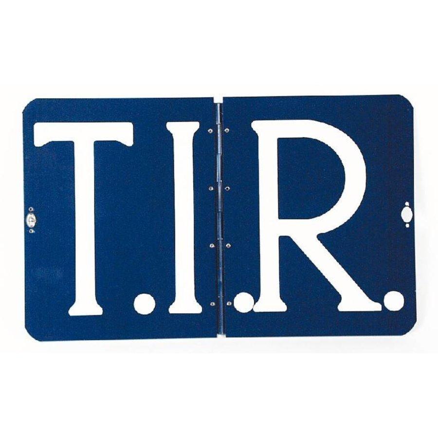 T.I.R. bord, compleet met extra draaisluiting  (omklapbaar) (OUTLET)-1