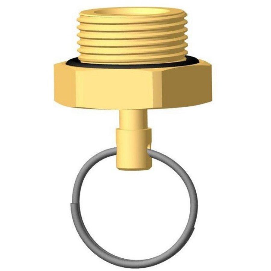 Ontwatering nippel met ring RAUFOSS BRK-1