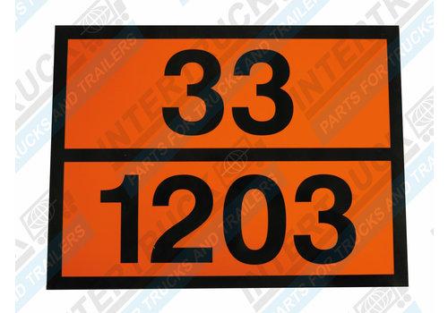 Intertruck Bord Gev. Stoffen 33/3475 En 33/1203 (202)